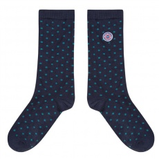 Les Lucas Navyblue - Navyblue socks with dots