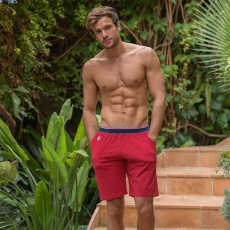 Le Zouzou Red - Red shorts with pattern