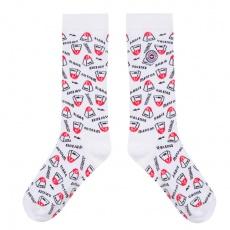 Les Lucas Kilomètres - White socks with pattern