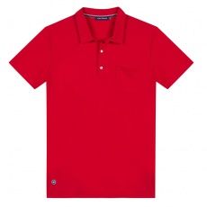 Le Leo red - Red poloshirt