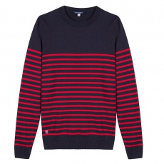 Le olivier Blue-red striped - Blue-red striped pullover