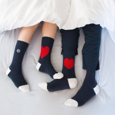 Duo Pack socks heart - Two pairs of socks in two different sizes