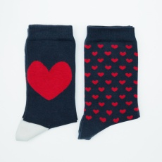 Duo Lucas Hearts - 2 pairs of socks with different pattern