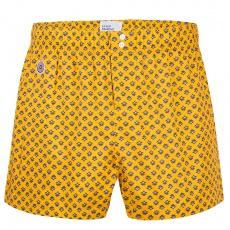 Le Jacques Saffron - Saffron boxershort with pattern