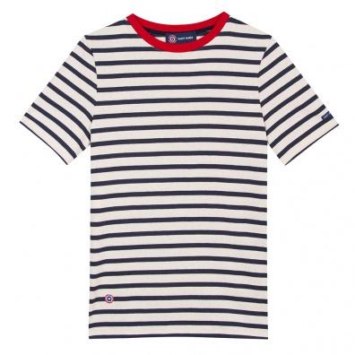 Le jean lou RAYE MARINE/BLANC - Tshirt RAYE MARINE/BLANC