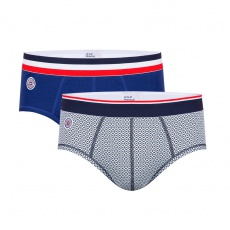 Le Terrible Duo - Indigoblue brief and brief with pattern