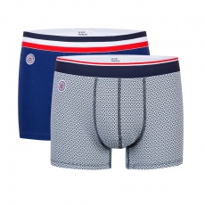 Le Marius Duo - Boxer briefs in indigo blue and with pattern