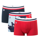 Le Marius Trio - Boxer briefs Navyblue/ France pattern/ Red
