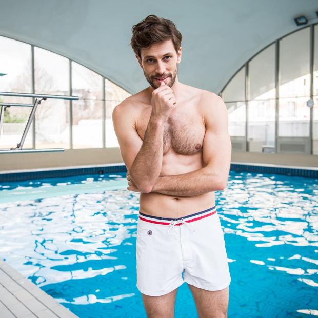 The Narwhal - White Swim Shorts