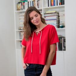 La eleonore ROUGE - Tshirt ROUGE