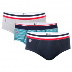 Le terrible trio - Trio briefs grey, blue and with pattern
