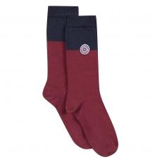 Les lucas Plum Navyblue - Two-coloured socks