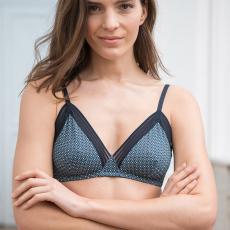 La augustine CAVIAR Green - Green bra with pattern
