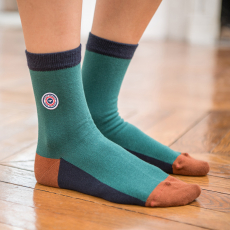 Les lucie fir green/Navyblue - Green socks