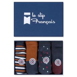 Les lucas quatro LIGNES/REN/POIS/PRU - Chaussettes LIGNES/REN/POIS/PRU