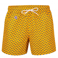 Le haddock Saffron- Saffron yellow swim short with pattern
