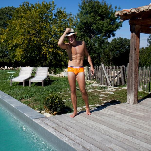 Le Moussaillon - Orange Swim Brief
