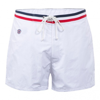 The Narwhal - White Swim Shorts