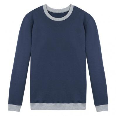 Le Coude à Coude Blue - Two tone sweat-shirt
