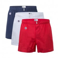 3 Pack Boxer Shorts - Blue/White/Red