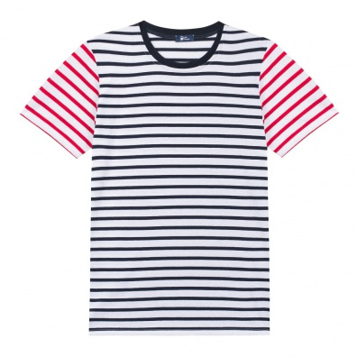 Le Bob - French Mariniere T Shirt with blue and red stripes