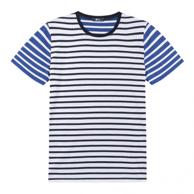 Le Mitch - French Mariniere T Shirt with blue stripes