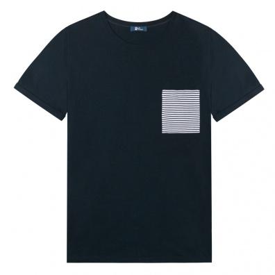 Le Nicolas - Blue T Shirt - Pocket with Blue Stripes