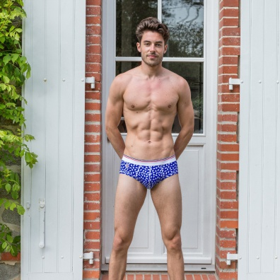 Le danse des Slips - Blue pattern Briefs