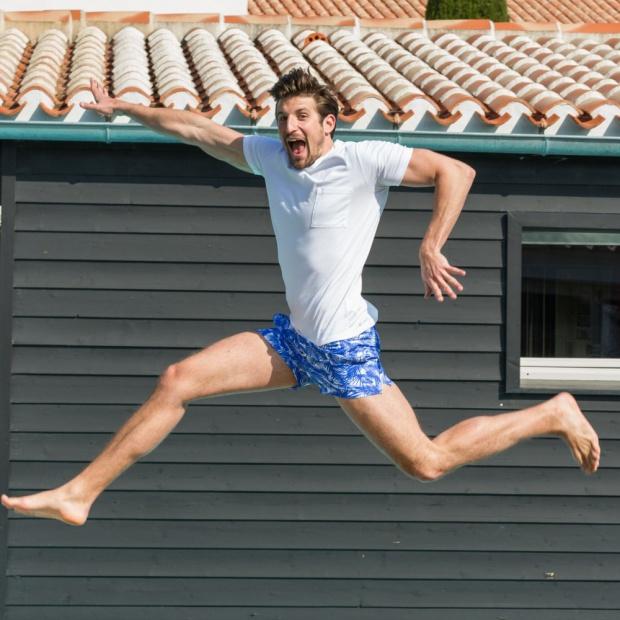 Le Tropical - Blue Swim Shorts