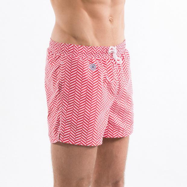 Chevron Rouge - Red Swim Shorts