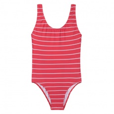 One Piece Swimsuit - Red striped