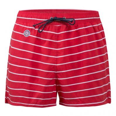 Le Marinière - Red striped swim short