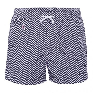 Chevron Bleu - Blue Swim Shorts