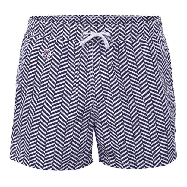 Chevron Bleu - Blue Swim Shorts