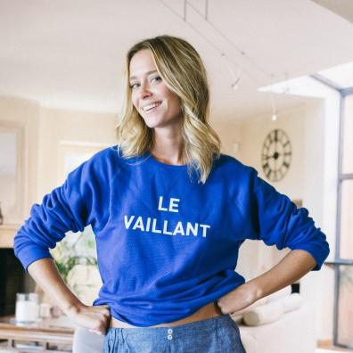 Le Brévent - Klein blue sweat-shirt