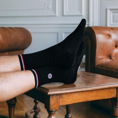 Scottish thread socks - Black socks