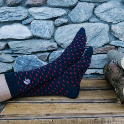Flaine - chaussettes marine à motifs