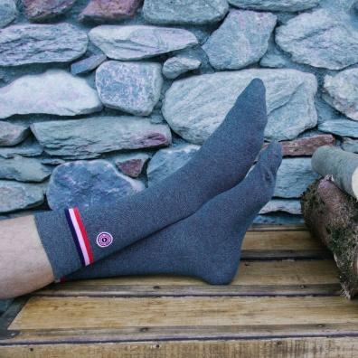 Huez - Blue Marle socks