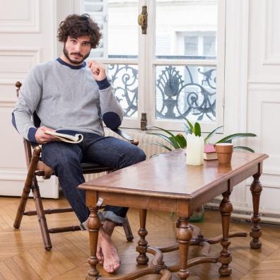 Le Coude à Coude Grey - Two tone sweatshirt
