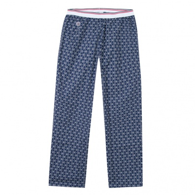 Charlot - Blue printed pyjamas with hashes