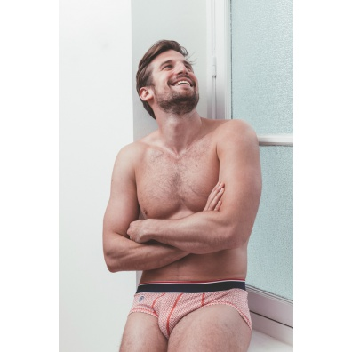 Le Grand Large Rouge - Red and white brief