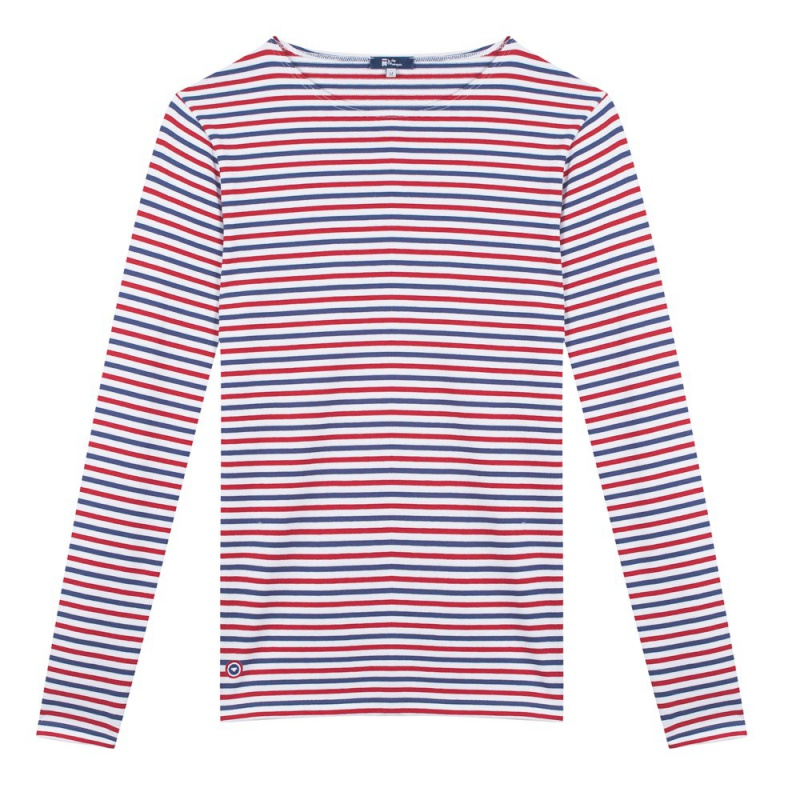 Le malo blue white red striped shirt le slip fran ais for Red blue striped shirt