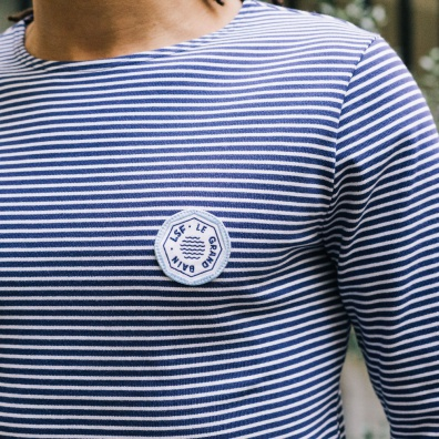 La Marinière Estivale - marinière bleue et blanche