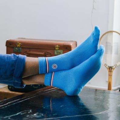 Les Minérales - Chaussettes bleues