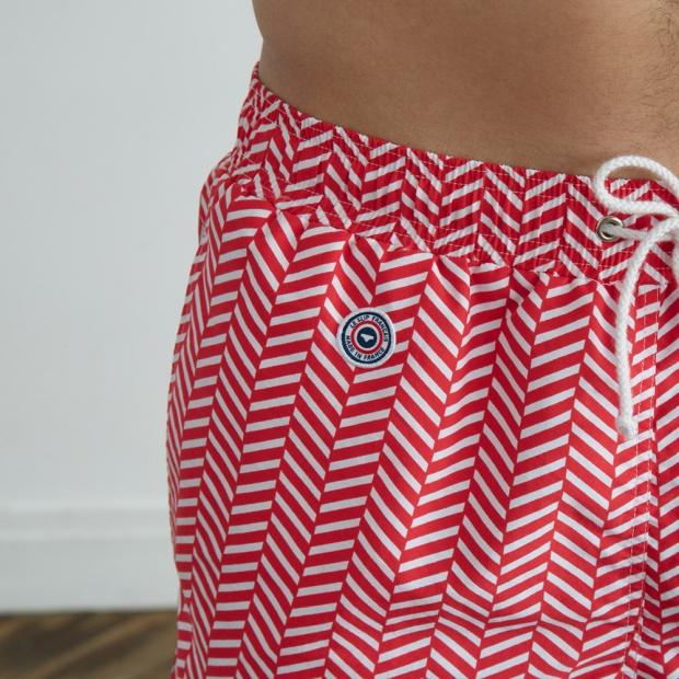 Le Chevron Rouge - Red swim short