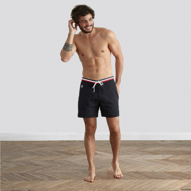 Le Barracuda - Black swim short