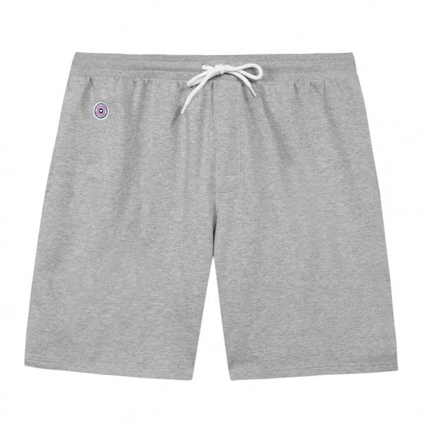 Le Henry gris - Short molleton gris chiné