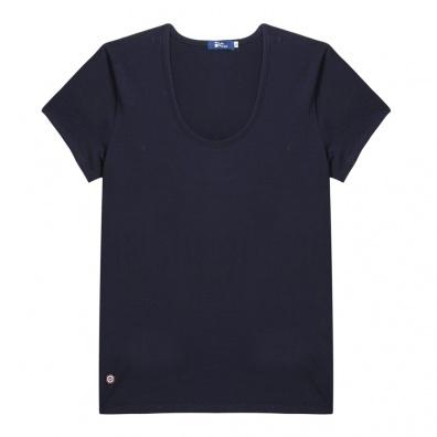 La Brigitte - Blue round collar t-shirt