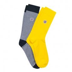 Les Lucas duo - 2 pack socks yellow & blue