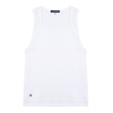La Marcella - White Muscle Fit Vest